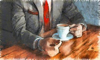 Ceramic Painting - On  The Money - Pa by Leonardo Digenio