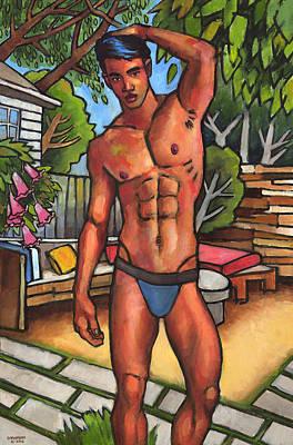 On The Patio Original by Douglas Simonson