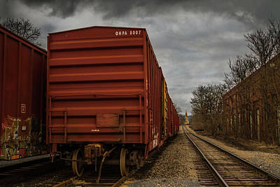 On The Right Track Print by Eclectic Art Photos