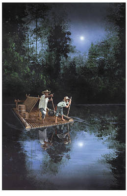 On The River Print by Harold Shull