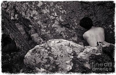 Self Portrait Photograph - On The Rocks IIi by Robert Brown