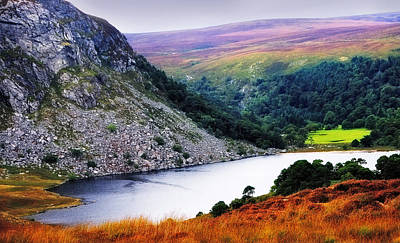 On The Shore Of Lough Tay. Wicklow. Ireland Print by Jenny Rainbow