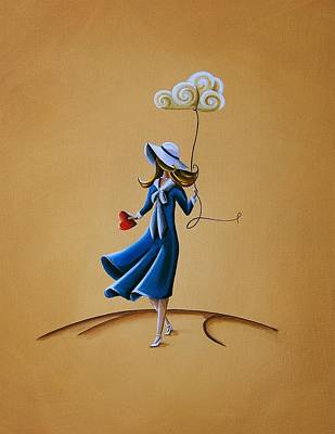 Whimsical. Painting - On The Street Where You Live by Cindy Thornton