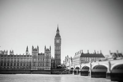 London Photograph - On The Thames by Debra Cox