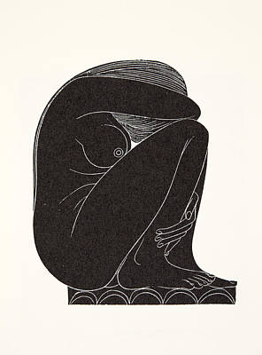 On The Tiles Print by Eric Gill