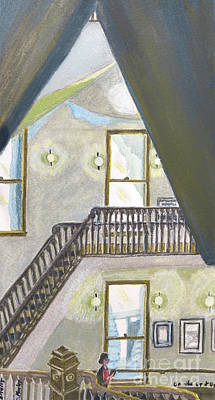 Bannister Painting - On The Up And Up by Cora Morley Eklund