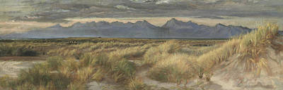 Distant Mountains Painting - On The Wash Near Pisa by Edith Ridley Corbet