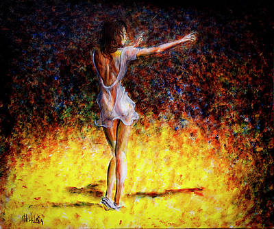 Ballet Painting - Once In A Lifetime V by Nik Helbig