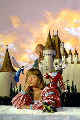 Knights Castle Painting - Once On A Time by Richard Hescox