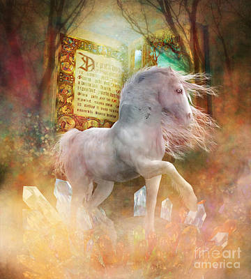 Crystals Digital Art - Once Upon A Time by Shanina Conway
