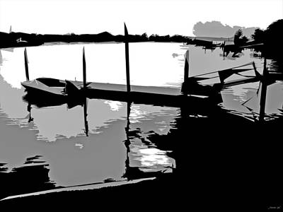 One Boat Print by JoAnn Lense