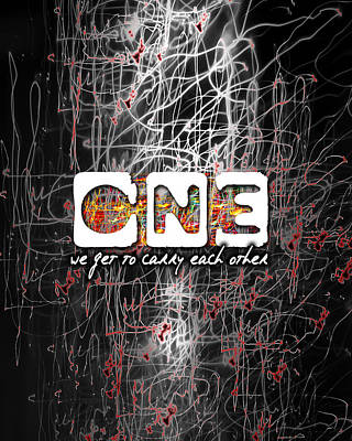 U2 Digital Art - One by Clad63