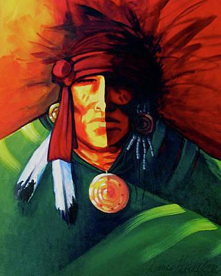 Western Painting - One Eye by Lance Headlee