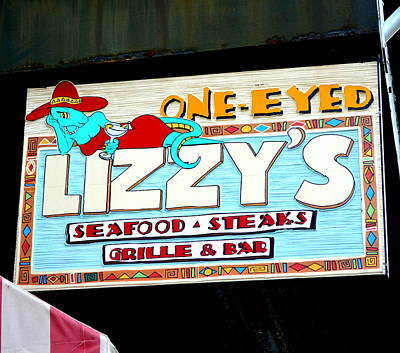 Tex-mex Photograph - One Eyed Lizzy's by Linda Covino