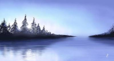 Seascape Digital Painting - One Fine Morning  by Veronica Minozzi