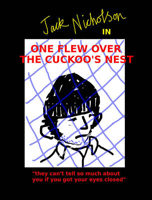 One Flew Over The Cuckoos Nest Movie Poster Original by Enki Art