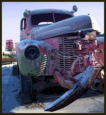 Old Trucks Digital Art - One Foot In The... by Glenn McCarthy Art and Photography