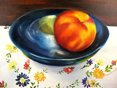Pottery Painting - One Good Peach by Carol Sweetwood