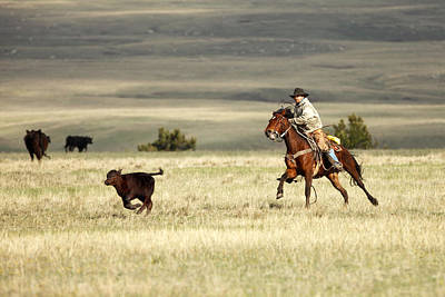 Working Cowboy Photograph - One Got Away by Todd Klassy