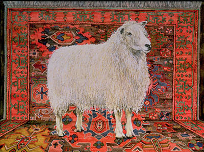 Farm Stand Painting - One Hundred Percent Wool by Ditz