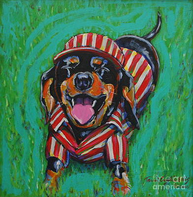 Lucky Dogs Painting - One Lucky Dog by Tami Curtis