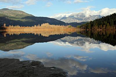 One Mile Lake Reflection Pemberton B.c Canada Print by Pierre Leclerc Photography