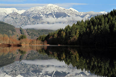 One Mile Lake Reflection Pemberton Print by Pierre Leclerc Photography