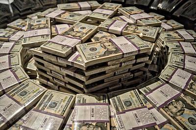 One Million Dollars In Twentys Print by Thomas Woolworth