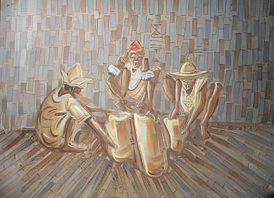 Yoruba Painting - One Nigeria by Emmanuel Anaiye Ifebunmi