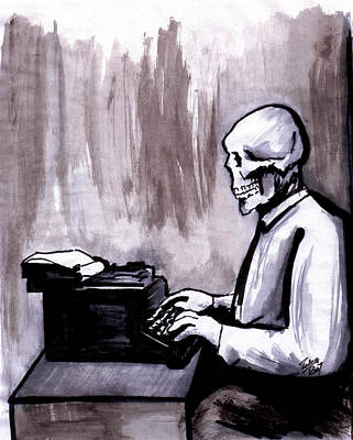 Typewriter Drawing - One Of Those On Whom Nothing Is Lost by Zombie Rust