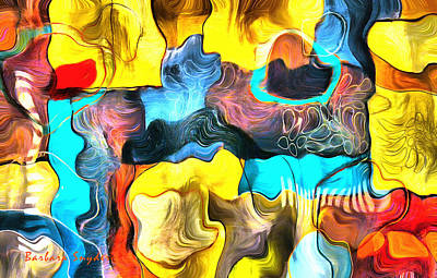 One Up Abstract Panel Print by Barbara Snyder