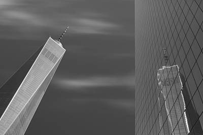 Black And White Photograph - One World - 2 Towers by Patrick Jacquet