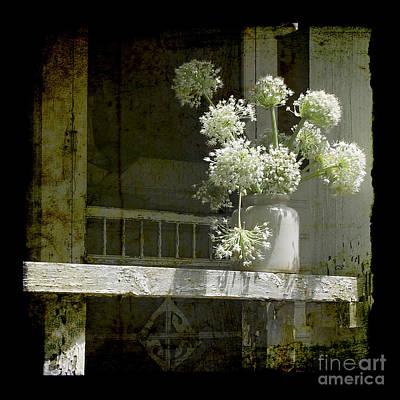 Onion Blooms Print by Sari Sauls