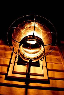 Onion Lamp At Night Print by Robert Morin