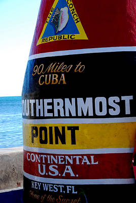 Only 90 Miles To Cuba Print by Susanne Van Hulst