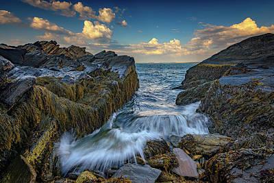 New England Village Photograph - Onrushing Tides by Rick Berk