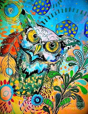 Painting - Oogke Owl by Amy Sorrell