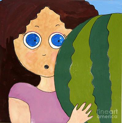 Watermelon Mixed Media - Oops It's Heavy by Niloofar Ojani