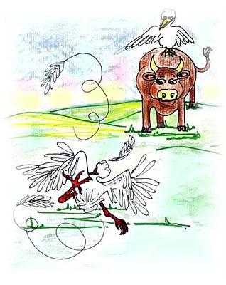 Ibis Drawing - Oopsi Daisy by Carol Allen Anfinsen
