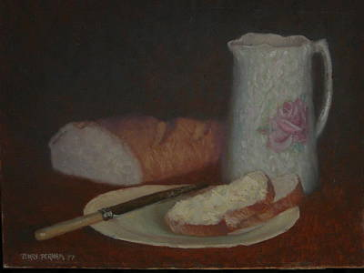 Opalescent Jug 1977 Print by Terry Perham