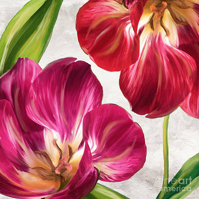 Bold Flower Painting - Open Arms by Mindy Sommers