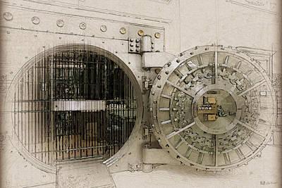 Open Bank Vault Door And Lock Original by Serge Averbukh