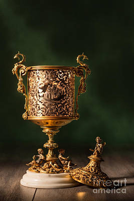 Old Objects Photograph - Open Chalice by Amanda And Christopher Elwell