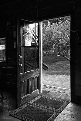 Open Door B-w Print by Christopher Holmes