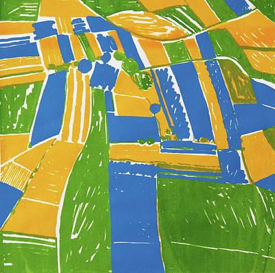 Open Field - Yellow Print by Toni Silber-Delerive