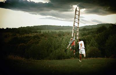 Open Mind Stairway Original by Luka Oleksishin