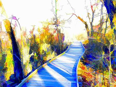 Open Pathway Meditative Space Print by Robyn King
