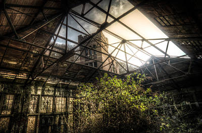 Building Factory Work Vintage Digital Art - Open Top by Nathan Wright