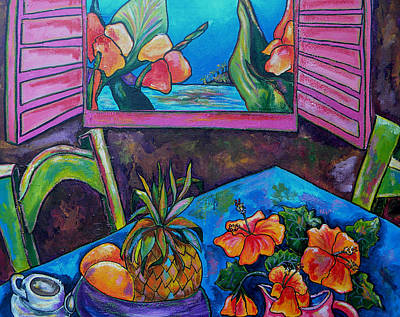 Hibiscus Painting - Open Window by Patti Schermerhorn