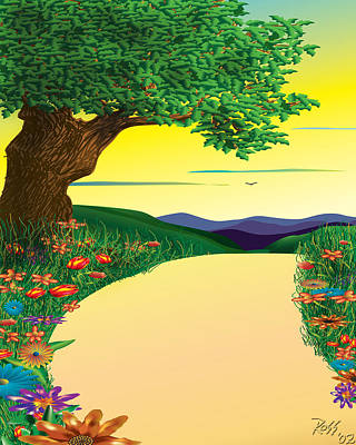 Digital Drawing Drawing - Opening Steps To Goodness by Ross Powell